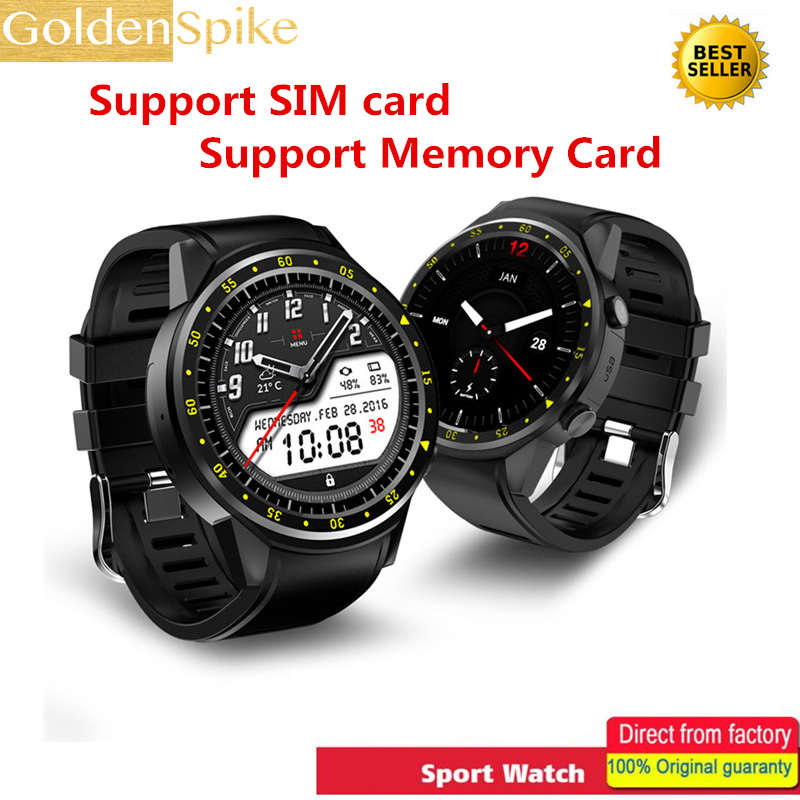 GOLDENSPIKE F1 GPS Bluetooth Smart Watch Heart Rate Monitor Smartwatch SIM TF Card Watches for Android IOS Watch Phone gps outdoor smart watch v18 supports tf card multi mode sports monitor bluetooth wristwatch clock smart phone for ios android