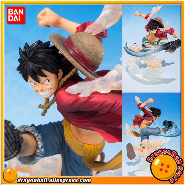 Japan Anime ONE PIECE 100% Original BANDAI Tamashii Nations Figuarts Zero Figure - Monkey D. Luffy -Gomugomu no Takamuchi- japanese anime original bandai figuarts zero one piece 5th anniversary edition monkey d luffy