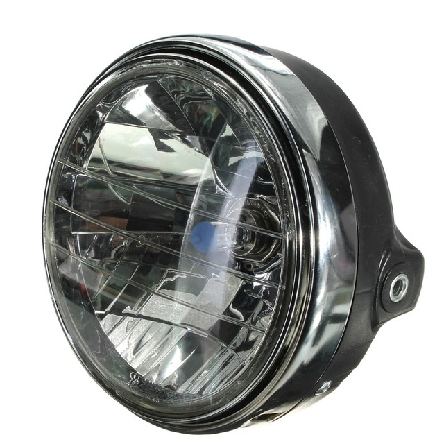 12v 7 inch motorcycle bike round headlight halogen h4 bulb head lamp side mount style for
