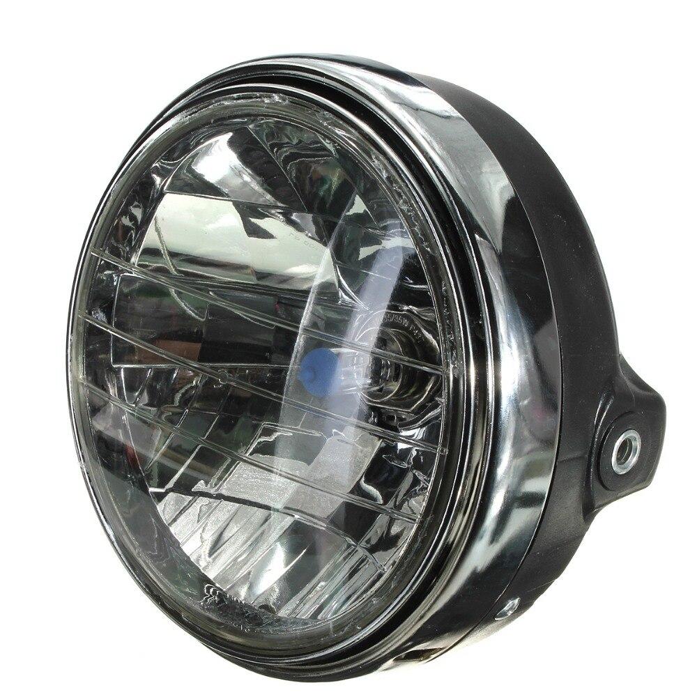12V 7 Inch Motorcycle Bike Round Headlight Halogen H4 Bulb Head Lamp Side Mount Style For Honda For Kawasaki For Suzuki/Yamaha
