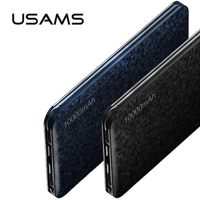 Power Bank для Xiaomi Mi, USAMS мозаика Ultra Slim 10000 мАч PowerBank для Iphone 4 5 6 7 SE мобильный телефон Samsung