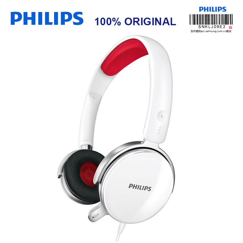 Philips Professional SHM7110U Headphones with Stereo Bass Wire Control Microphone Headset for Music Phone Official Test