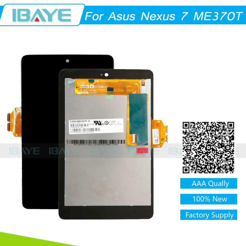 Prix pour Noir Pour ASUS Google Nexus 7 ME370T 1st Gen 2012 LCD display + Écran Tactile Digitizer pour asus nexus 7 me370t écran