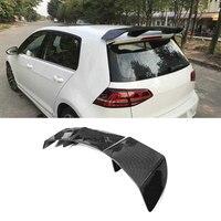 Углеродного волокна задний спойлер на крыше губ крылья для Volkswagen Golf 7 VII МК 7 GTI RZ 2014 2017 RZ Стиль
