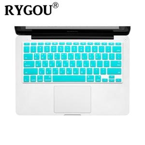Image 1 - Корейская и английская накладка на клавиатуру с американской раскладкой, силиконовый чехол для MacBook Air 11, 11,6 дюйма, A1465, A1370 искусственная кожа