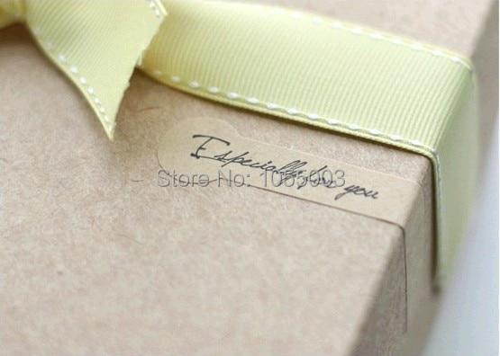 1lot 100pcs gift bag sealing label kraft paper labels envelope