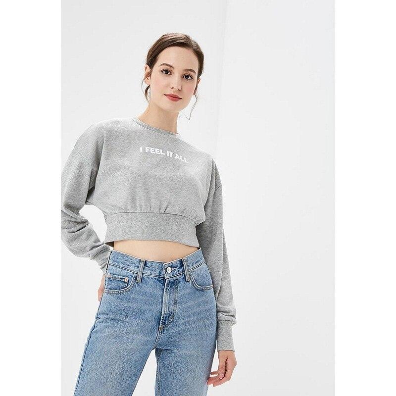 Hoodies & Sweatshirts MODIS M182W00280 hooded jumper sweater for female for woman TmallFS graceful embellished cross sweater chain for women