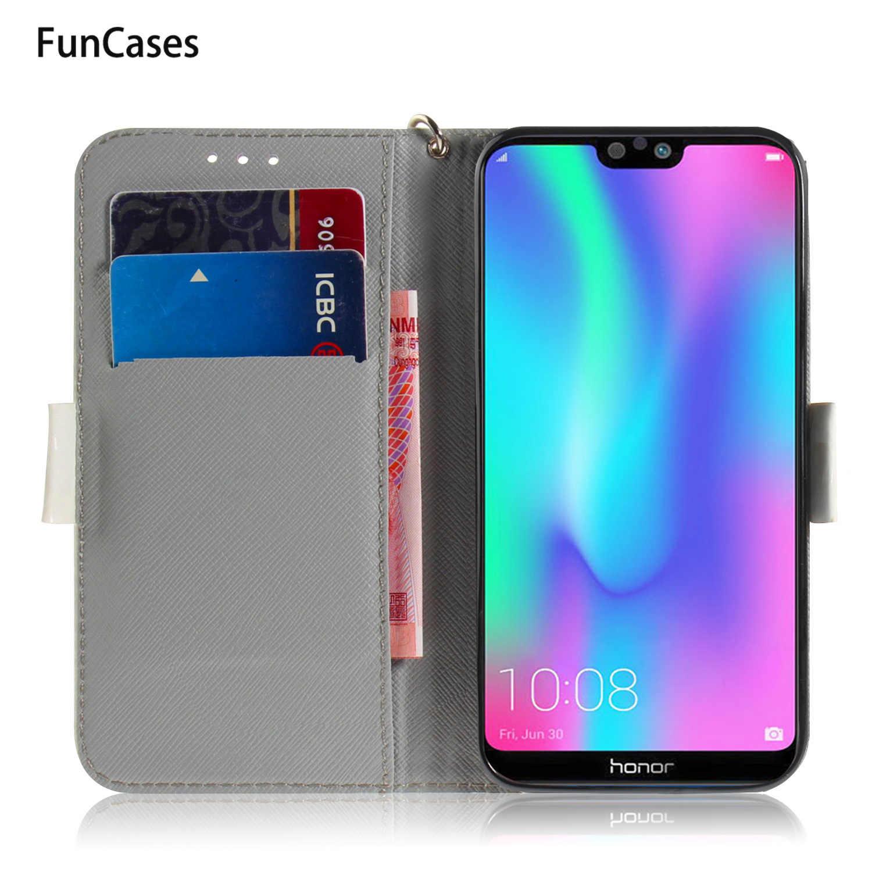 3D Capa estojo Huawei Honra 8X sFor Huawei Companheiro estuche 10 Lite 20 Pro 20X Honra 7A 8C 9i coques Flip Caso Wallet Livro
