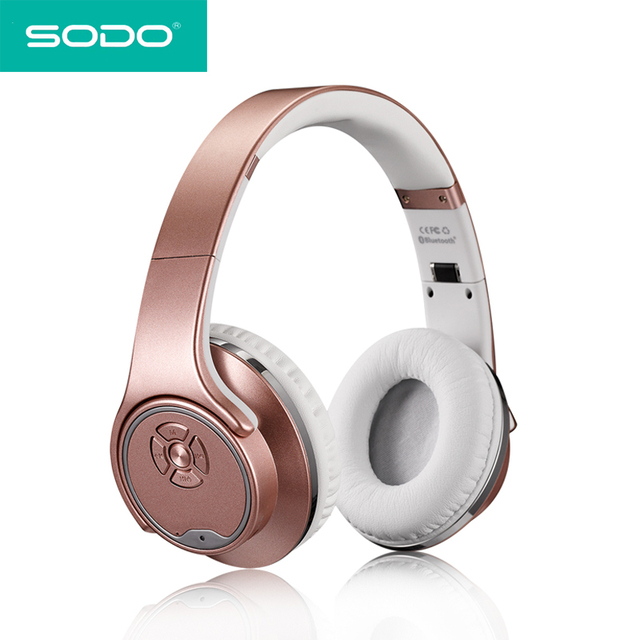 ad83fb7e469 SODO MH1 Bluetooth Headphone Twist-out Speaker Bluetooth 2 in 1 Headset NFC  TF card Aux-in Hands-free for iPhone Samsung xiaomi