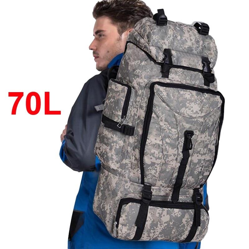 70L hommes camping randonnée imperméable sport escalade sac femmes sac à dos armée voyage chasse militaire molle tactique sac à dos
