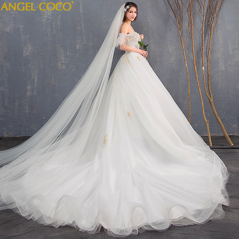 Maternity Dress High Waist Pregnancy Maternity Wedding Plus Size Bride Wedding Gown Long Trailing Princess Dreamy Thin Pregnant