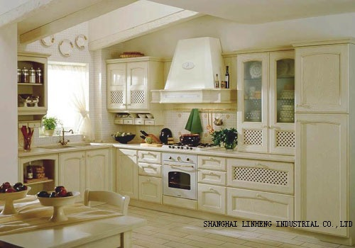 Classical Solid Wood Kitchen Cabinet