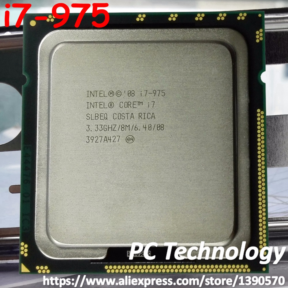 Original Intel Core Processor Extreme Edition i7 975 3 30GHZ 4 Cores 8M Cache LGA1366 CPU