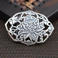 S990 fine silver bracelet handmade accessories wholesale silver DIY female air Pendant
