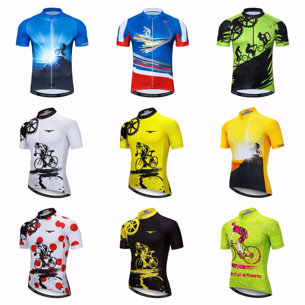 Bike Jersey Mtb-Shirts Short-Sleeve Ciclismo-Top Team-Maillot Blue Men's Summer White title=