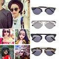 4 Cores Das Mulheres Da Forma Do Vintage Decoração Óculos de armação de Metal Óculos de Proteção UV Óculos de sol Do Olho de Gato Óculos 2016 Venda Quente