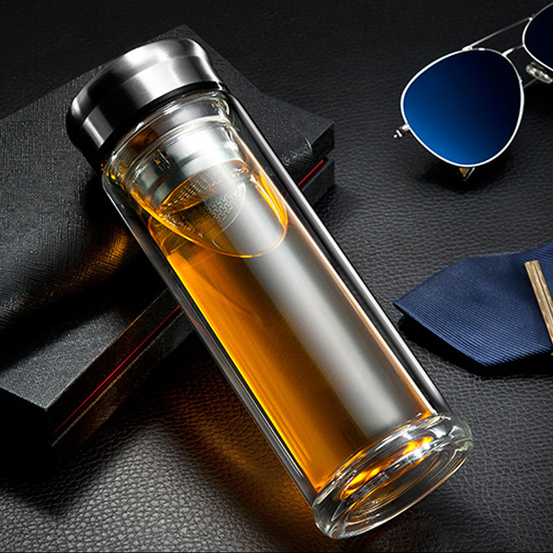 High Quality Double glass Coffee Mug <font><b>My</b></font> Water Bottle for Water <font><b>Cup</b></font> Tumbler thermos <font><b>Cups</b></font> Business Office Drinking <font><b>tea</b></font> mugs Filter