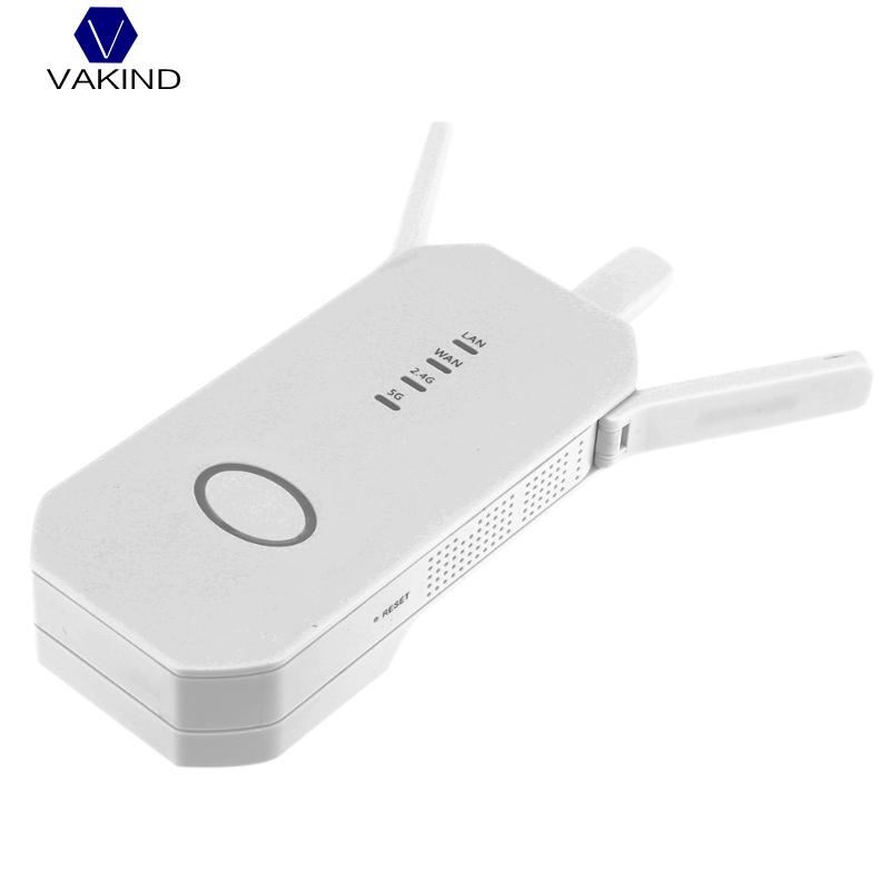 750Mbps Dual Band Wireless AP Repeater, WiFi Signal Range Extender Booster Repeater, with 3 External Antennas US Plug