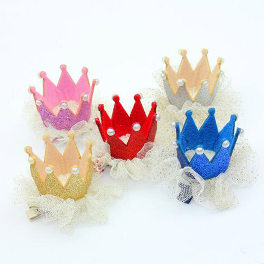 Modern Ornament Accessory Kids Hairpin Crown Pearl Princess Hair Clip for Kids Party Accessory Hairwear Hair Accessory in Women 39 s Hair Accessories from Apparel Accessories