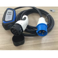 Ev Charger Adjustable Evse 10 13 16 32A 3 Pins Cee Plug IEC62196 Type 2 7 Pins for Electric Car Charger 5M Cable Cord