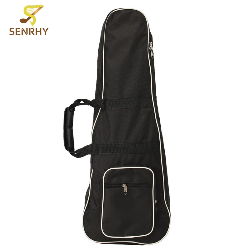 Black Classic Soft Acoustic Guitar Bass Case Bag Holder With Double Shoulder Straps Fit For Mandolin Guitar Parts & Accessories two way regulating lever acoustic classical electric guitar neck truss rod adjustment core guitar parts
