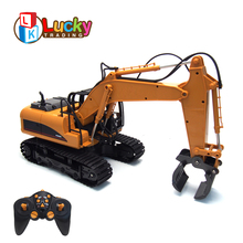 Factory Direct 16ch Grasp Wood Battery Operated Alloy rc Trucks 1:14 for Kids Model Collection Remote Control Excavator lemax village collection camp fire battery operated 04273