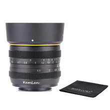 Kamlan 50mm F1.1 APS-C Large Aperture Manual Focus Lens for nikon N1 amount Free Shipping(China)