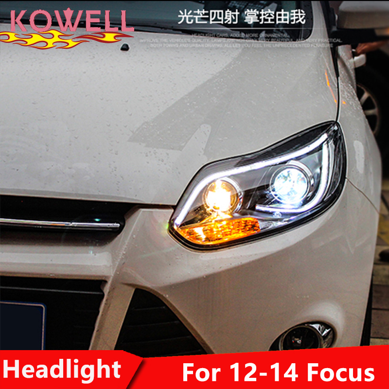 KOWELL Car Styling For Ford Focus headlights For 2012 2013 2014 Focus head lamp led DRL