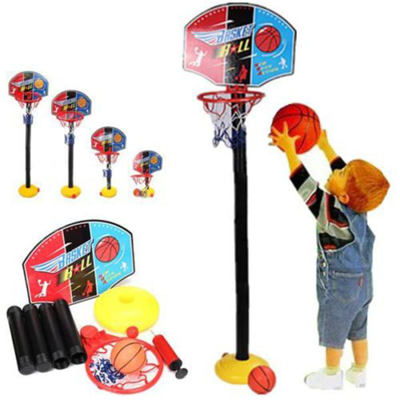 Kids Basketball Hoop Standds Inflation ball Holder Sport Indoor Outdoor Activity Toys Adjustable