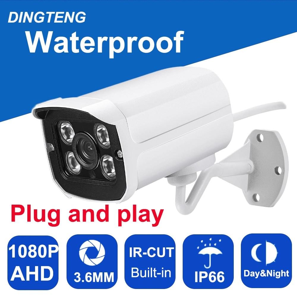 CMOS with IR-Cut filter 4pcs Array leds AHD Camera 2MP 1080P Indoor / Outdoor Waterproof CCTV Security Camera, free shipping