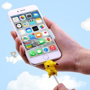 Image 3 - CHIPAL かわいい動物ケーブルプロテクター iphone の usb データ線ワインダーオーガナイザー Chompers 漫画保護咬傷人形モデルホルダー