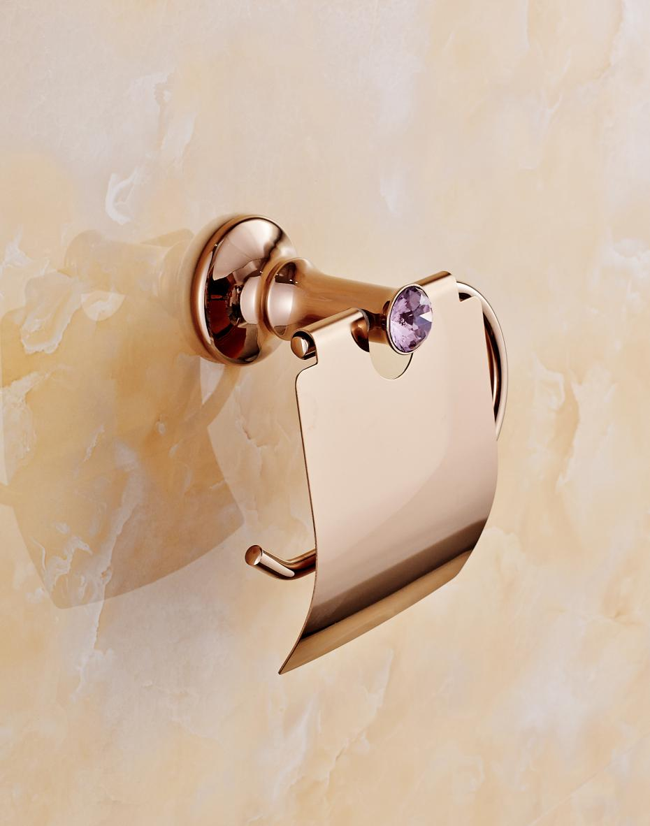 polished gold solid brass toilet paper box luxury high quality wall mounted roll holder toilet accessories sets t1in paper holders from home