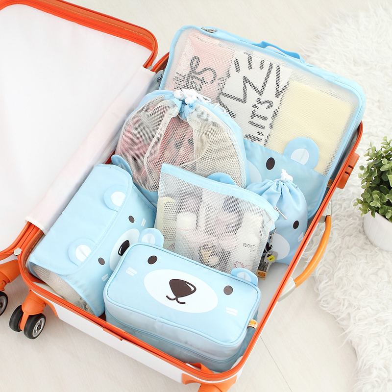 Cute Bear Printing Women Cosmetic Bag For Travel And Daily Life Storage  Clothes And Makeup Thing