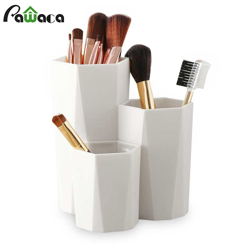 Rack Pen-Holder Storage-Box Table-Organizer Make-Up-Brush Cosmetic Nail-Polish 3-Lattices