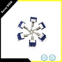 цена на 6pcs/lot Mini MTS-203 6Pin 3 Position G104 ON-OFF-ON 6A 125V Toggle Switches