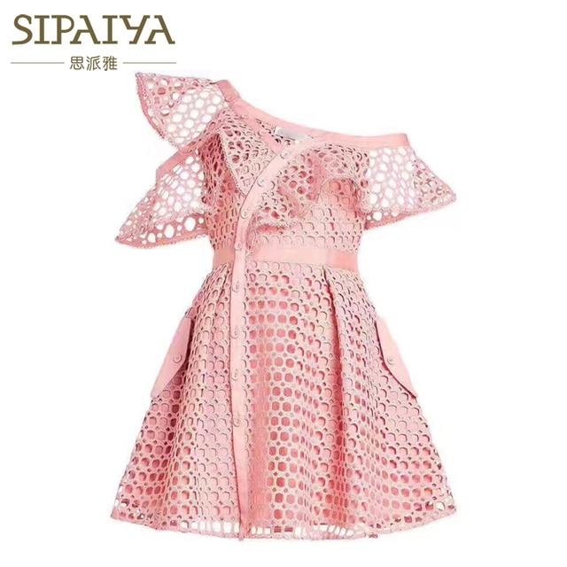 f72bfdd1a7f9b SIPAIYA 2017 High Quality Designer Runway Dress One Shoulder Cascading  Ruffles Sexy Summer Dress Self Portrait Dress