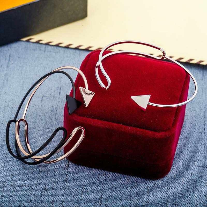 HEBEHERA модный необычный треугольный стрелы посеребренный женский браслет для