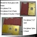 Прессформы алюминия Ламинатор Формы Металла джиг для переднее стекло с рамкой Место Для iphone 5 5s 5c/6 6 s/6 P 6sp/7/7 p