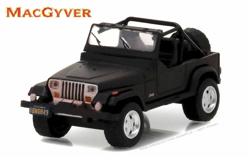 Green Light 1:64 1987 Jeep Wrangler YJ - MacGyver boutique alloy car toys for children Model original box freeshipping