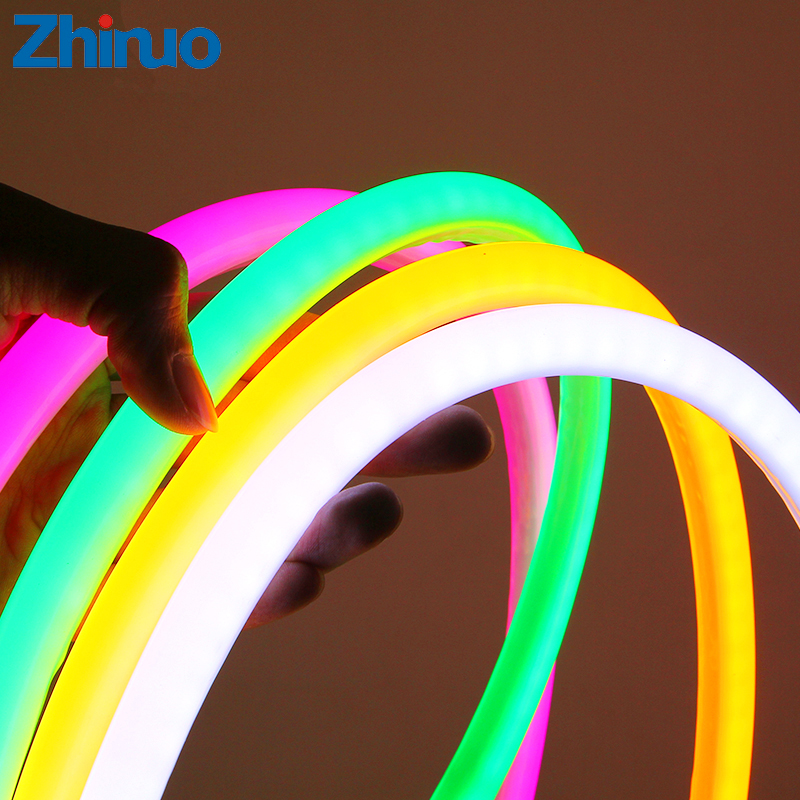ZHINUO SMD2835 12V LED Strip Neon Light Round Line Low Voltage Flexible Indoor Outdoor Waterproof Soft Light Strip Car Ambilight