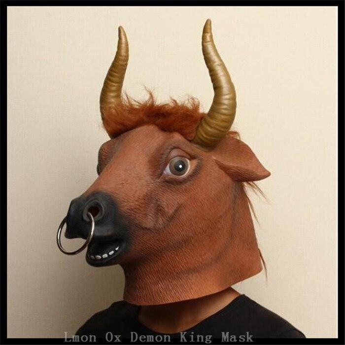 Masquerade Mask New Rose Gold Bull Ox Taurus Halloween Animal Costume Unisex