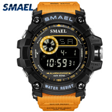 Digital Watch for Men Chronograph SMAEL Clock Big Dial Watches 8010 Waterproof Sport Led Wristwatches