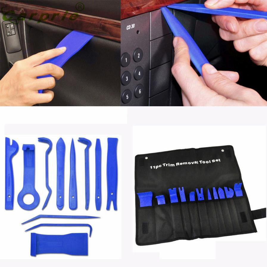 new arrival 11pcs car trim door panel removal molding set kit pouch pry tool interior van diy. Black Bedroom Furniture Sets. Home Design Ideas