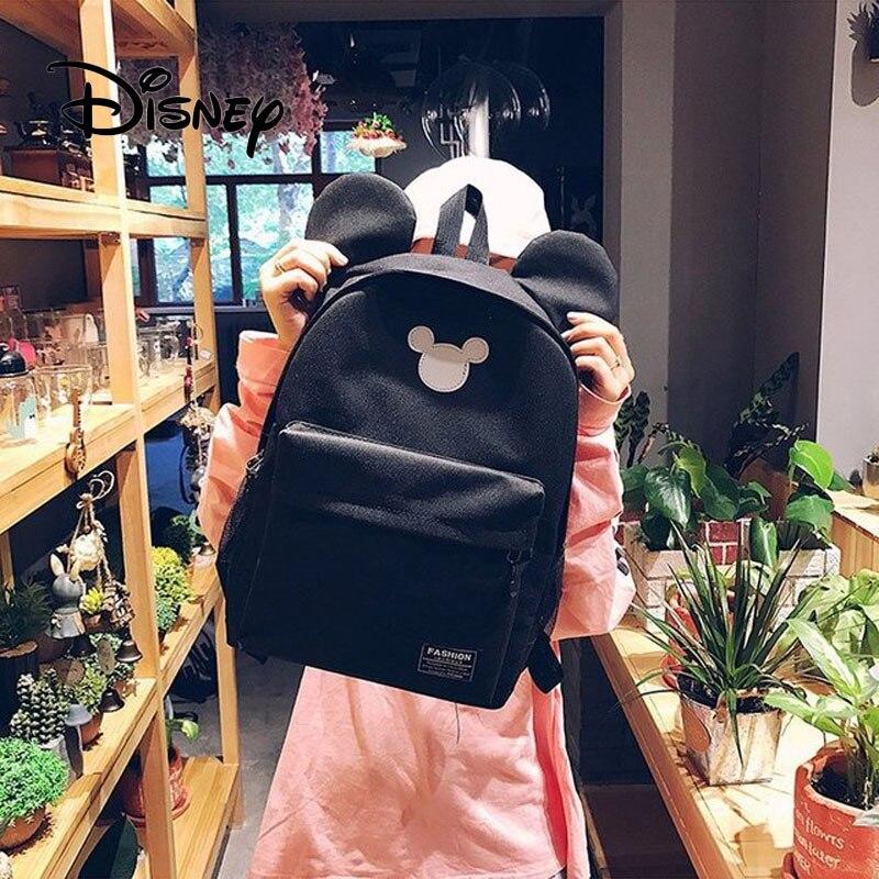 Plush Backpacks 2019 Disney Mickey Backpack Cute Mickey Mouse Women Bag Girl Handbag Fashion School Backpacks Boy Travel Bag Birthday Gifts