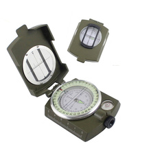 New Professional Military Army Metal Sighting Luminous Compass for Outdoor Camping Hiking Green