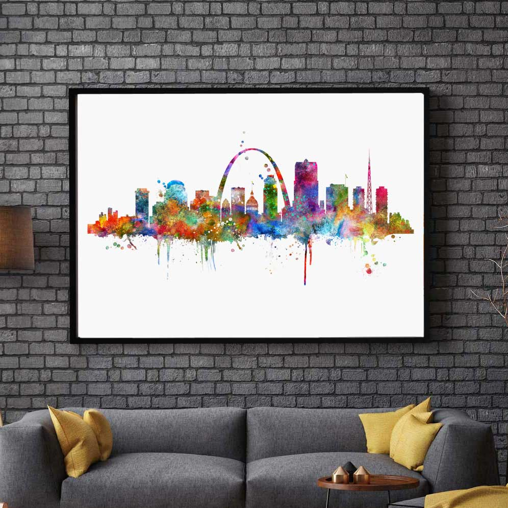 Sunset New York City Skyline Cityscape Silk Poster 13x20 24x36 inch