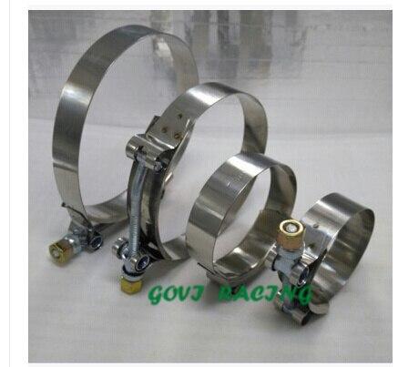 Нержавеющая сталь T-BOLT зажимы with64/70/76/80/83/87/90/103 мм внутренний диаметр unviersal для автомобилей Воздушный фильтр boost контроллер