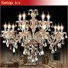 Modern K9 Crystal Chandelier Home Lighting Luxury Lustres De Cristal Pendants Living Room Indoor Crystal Lamp