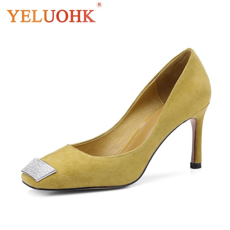 2018 Spring Shoes Heel Women High Quality High Heels Shoes Women Heels 8 CM Pumps 33 43 2018 spring shoes women heels patent leather shoes heel women high quality women pumps high heels big size 5 5 cm page 3