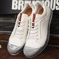 Nuevos 2016 Hombres Zapatos Ocasionales del Cuero Genuino de Los Hombres de Ocio de Moda Marea Zapatos Zapatos de Los Hombres Zapatos de Cuero Suave Cómodo UE 39-44